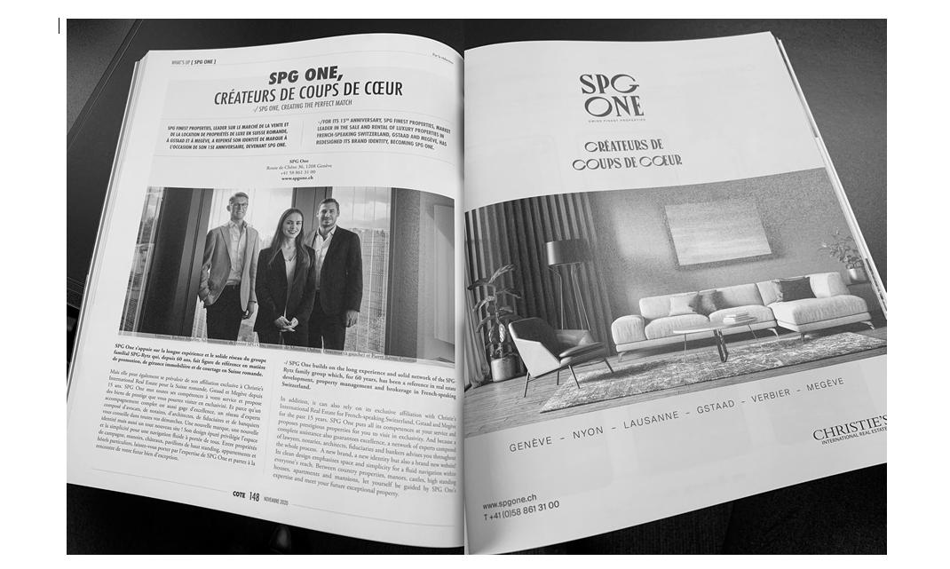 Article dans Cote Magazine - Parution de novembre 2020