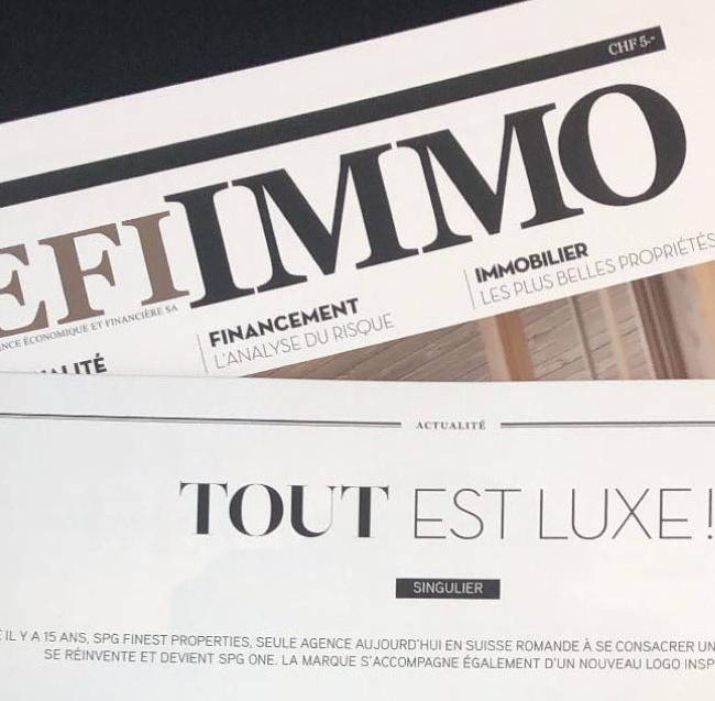 Article dans l'AGEFI IMMO - Décembre 2020/Janvier 2021 (French)